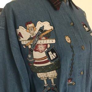 teacher's Vintage denim shirt
